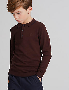 Wool Rich Polo Neck Jumper (3-14 Years)