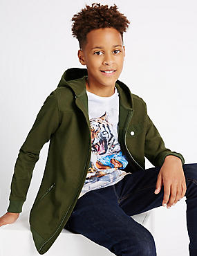 Textured Hooded Top (3-16 Years)