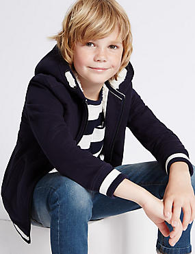 Cotton Rich Hooded Neck Sweatshirt (3-14 Years)