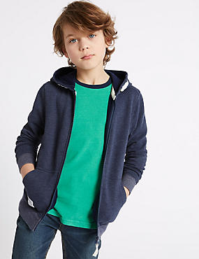 Cotton Rich Hooded Top (3-14 Years)