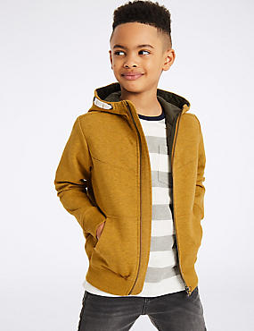 Quilted Zip Through Sweatshirt (3-14 Years)