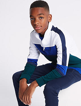 Cotton Rich Sweatshirt (3-16 Years), BLUE, catlanding