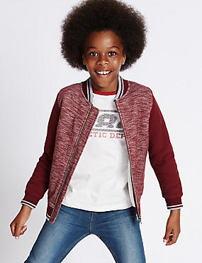 Cotton Rich Baseball Sweatshirt (3-14 Years)
