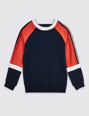 Cotton Rich Sweatshirt (3 16 Years) by Marks & Spencer