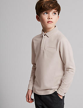 Pure Cotton Polo Shirt (3-16 Years), MULTI, catlanding