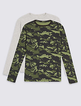 2 Pack Long Sleeve Tops (3-14 Years)