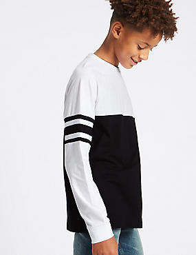 Pure Cotton Monochrome Top (3-16 Years)