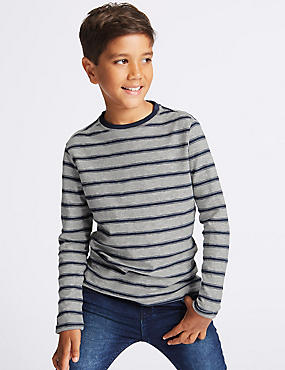 Cotton Rich Striped T-Shirt (3-14 Years)