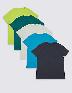 5 Pack Assorted T-Shirts (3-14 Years)
