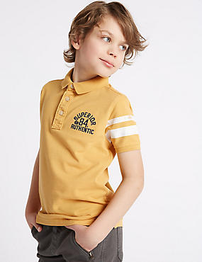 Cotton Rich Polo Shirt (3-14 Years)