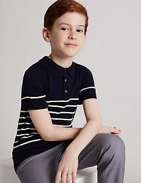 Striped Polo Shirt (3-14 Years)