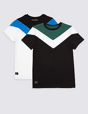 2 Pack Pure Cotton Tops (3-16 Years)