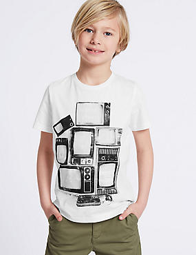 Pure Cotton TV Graphic Top (3-16 Years)