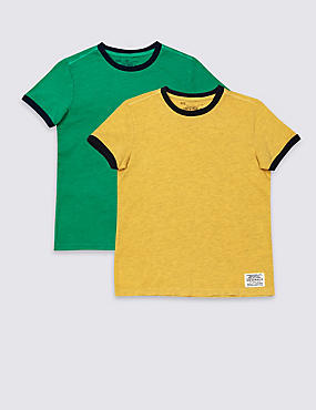 2 Pack Cotton Rich T-Shirts (3-14 Years)