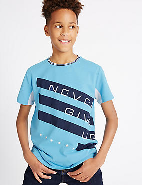 Pure Cotton T-Shirt (3-14 Years)