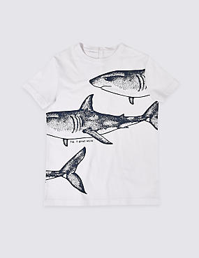 Easy Dressing Shark T-Shirt (3-16 Years), MULTI, catlanding