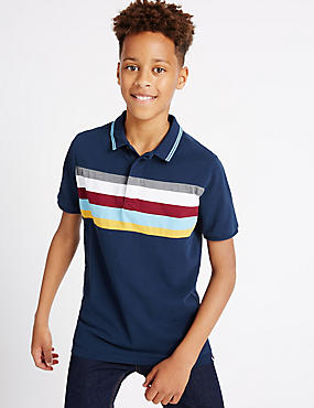 Pure Cotton Polo Shirt (3-14 Years)