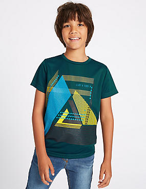 Graphic Print Short Sleeve Top (3-14 Years)