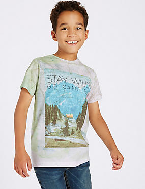 Printed Short Sleeve Top (3-14 Years)