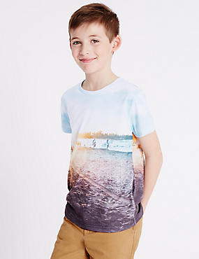 Printed Short Sleeve T-Shirt (3-14 Years)