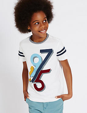 Pure Cotton Printed T-Shirt (3-14 Years)