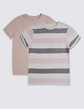 2 Pack Short Sleeve Tops (3-16 Years)