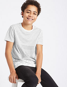 Triangle Grid T-Shirt (3-16 Years)