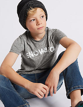 Textured Short Sleeve T-Shirt (3-14 Years)