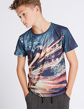 Photographic Street Scene Print T-Shirt (3-14 Years)