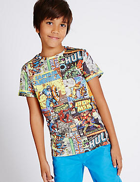 Marvel All Over Print T-Shirt (3-14 Years)