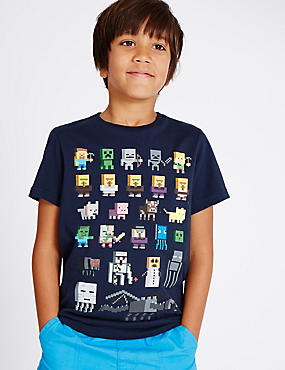 Pure Cotton Minecraft T-Shirt (3-14 Years)