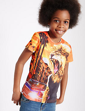 Animal Print T-Shirt (3-14 Years)