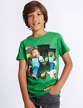 Cotton Rich Minecraft™ Top (3-14 Years)