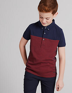Pure Cotton Jacquard Polo Shirt (3-14 Years)