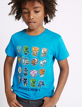 Pure Cotton Minecraft™ Top (3-14 Years)