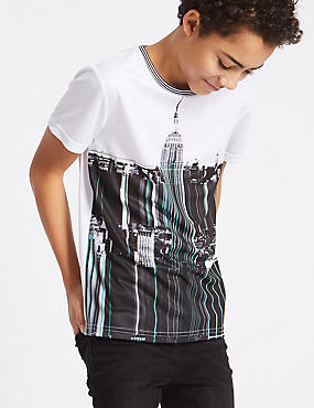 City Print Top (3-16 Years)