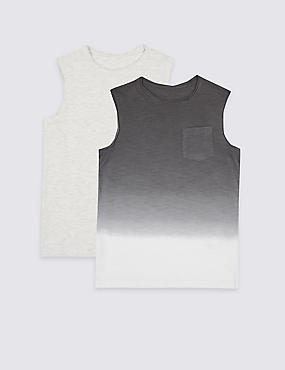 2 Pack Vest Tops (3-16 Years)