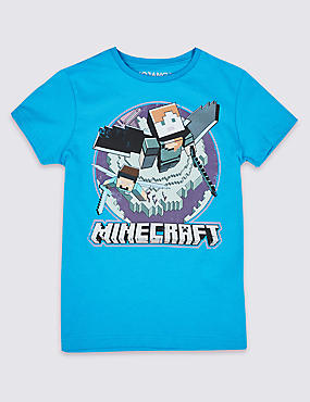 Pure Cotton Minecraft™ Top (3-16 Years)