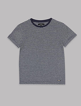 Cotton Rich Jacquard T-Shirt (3-14 Years)