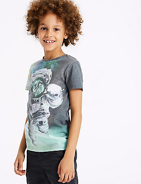 Cotton Blend Photographic Top (3-16 Years)