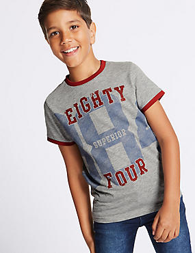 Cotton Rich Printed T-Shirt (3-14 Years)