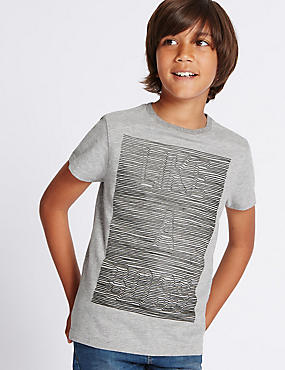 Cotton Rich Embossed Top (3-14 Years)