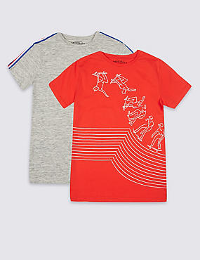 2 Pack T-Shirts (3-16 Years)