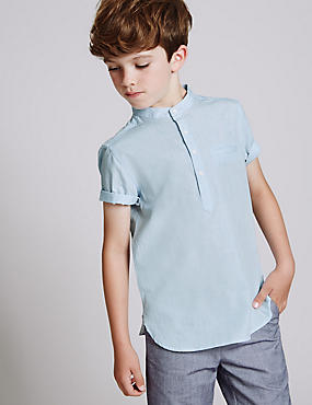 Pure Cotton Popover Shirt (3-14 Years)