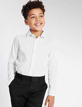 Pure Cotton Textured Shirt (3-14 Years), WHITE MIX, catlanding