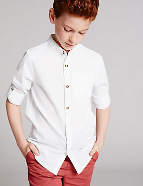 Cotton Blend Shirt (3-14 Years)