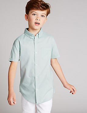 Pure Cotton Short Sleeve Shirt (3-14 Years)