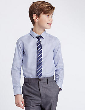 Striped Shirt with Tie (3-14 Years)