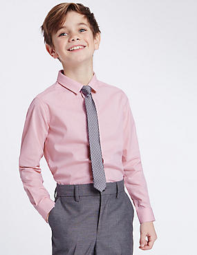 Spotted Shirt with Tie (3-14 Years)