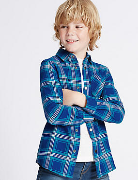 Pure Cotton Checked Shirt (3-14 Years)